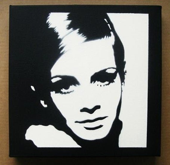 Spray Paint Stencil Designs Best Of Twiggy Stencil Graffiti Spray Paint On Canvas Pop Art
