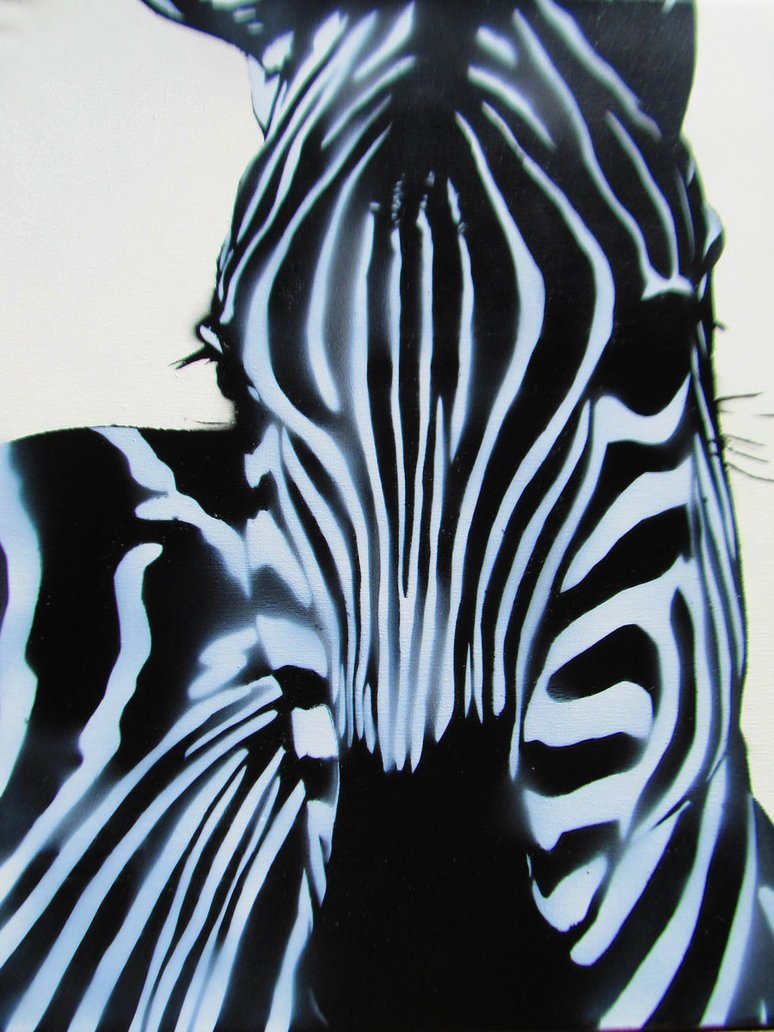 Spray Paint Stencil Designs Inspirational Spray Paint Stencil Graffiti Art Zebra Close Up by
