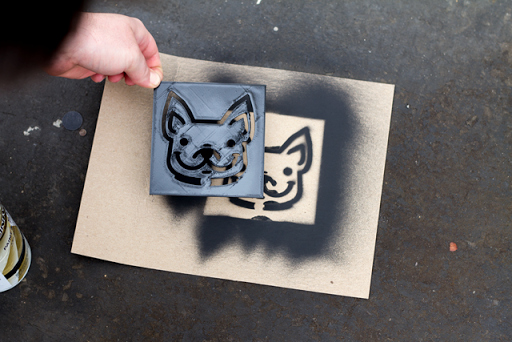 Spray Paint Stencil Designs New How to Create and 3d Print A Custom Stencil
