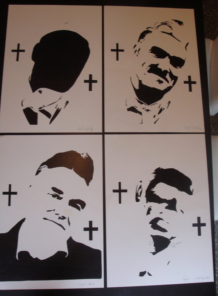 Spray Paint Stencil Designs New Morrissey Stencils Ready for Spray Paint by Ramart79 On