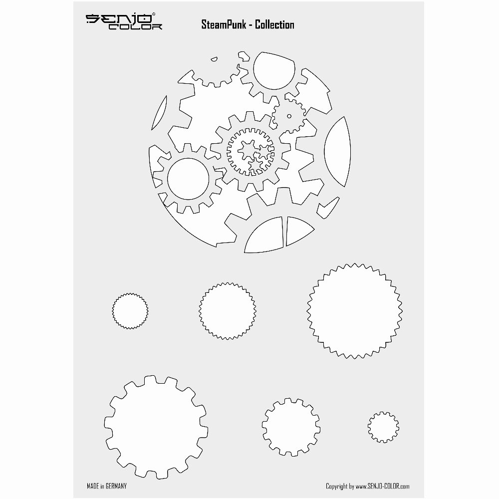 Spray Paint Stencil Designs New Steampunk Spray Paint Stencil Gearwheels A4