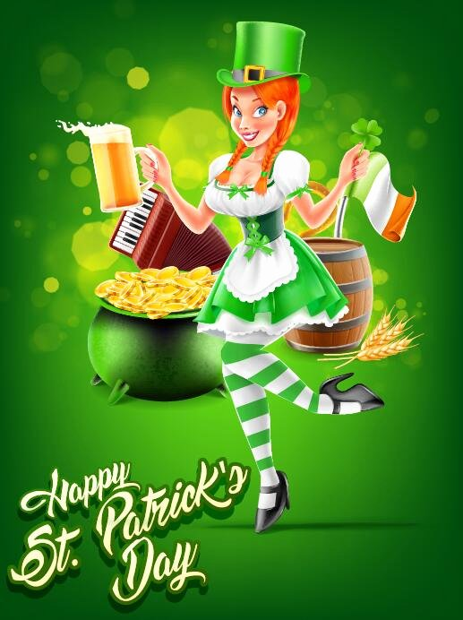 St Patrick Day Posters Elegant St Patricks Day Poster Template Vector 05 Free