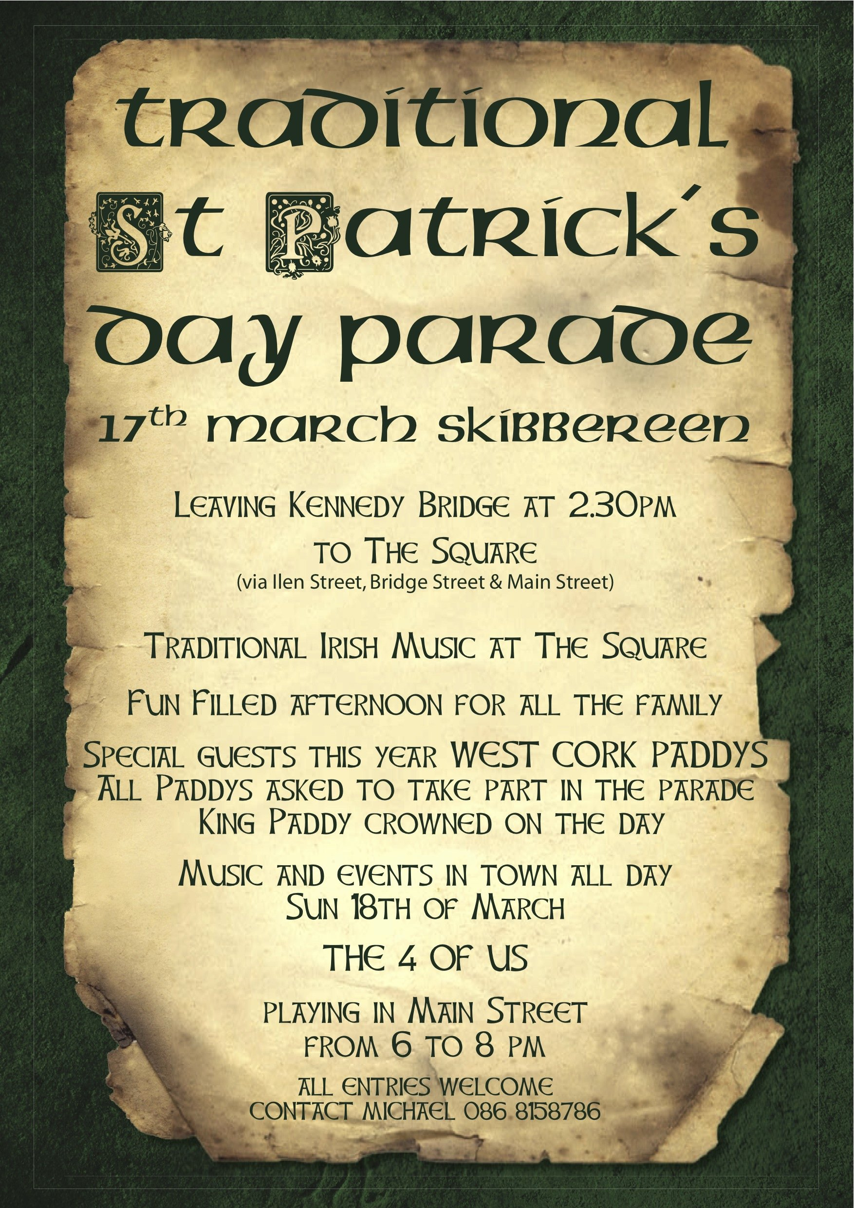 St Patrick Day Posters Fresh Patrick S Day Poster Skibbereen West Cork Ireland