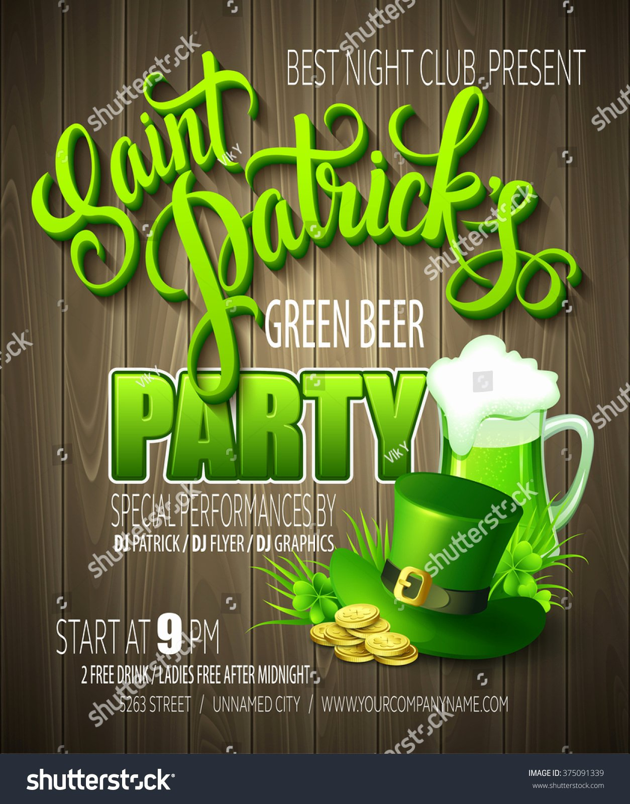 St Patrick Day Posters Inspirational St Patrick Day Poster Vector Illustration Eps10