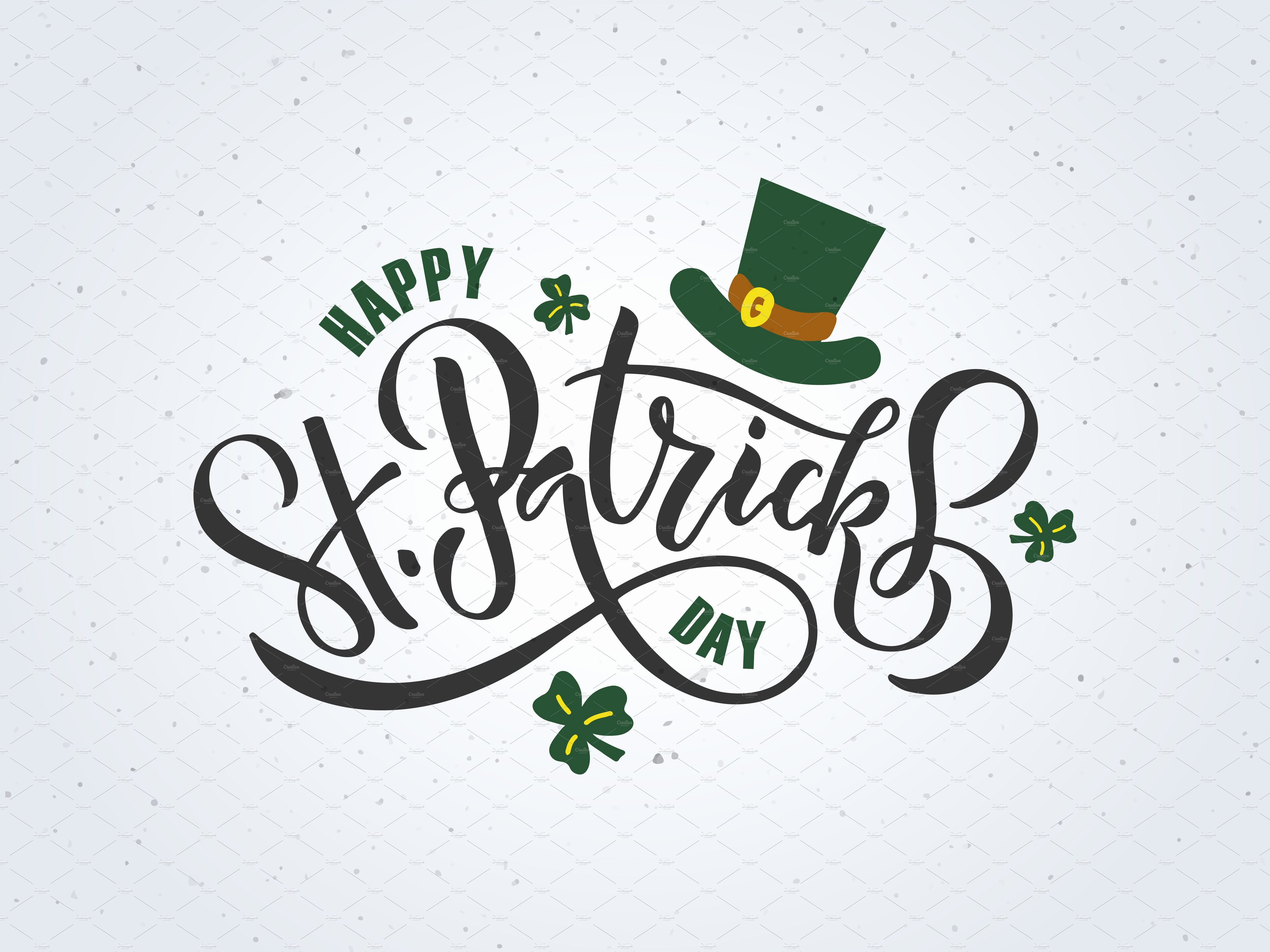 St Patrick Day Posters Inspirational St Patrick S Day Lettering Poster Templates Creative