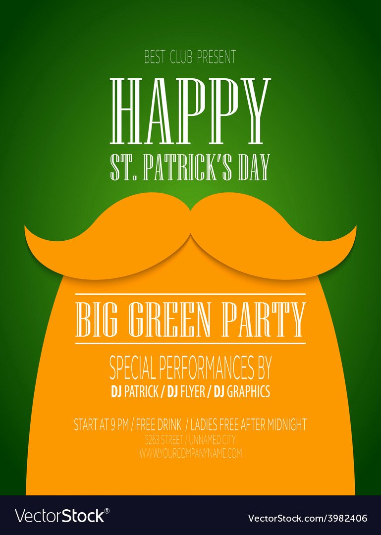 St Patrick Day Posters Lovely St Patricks Day Poster Royalty Free Vector Image