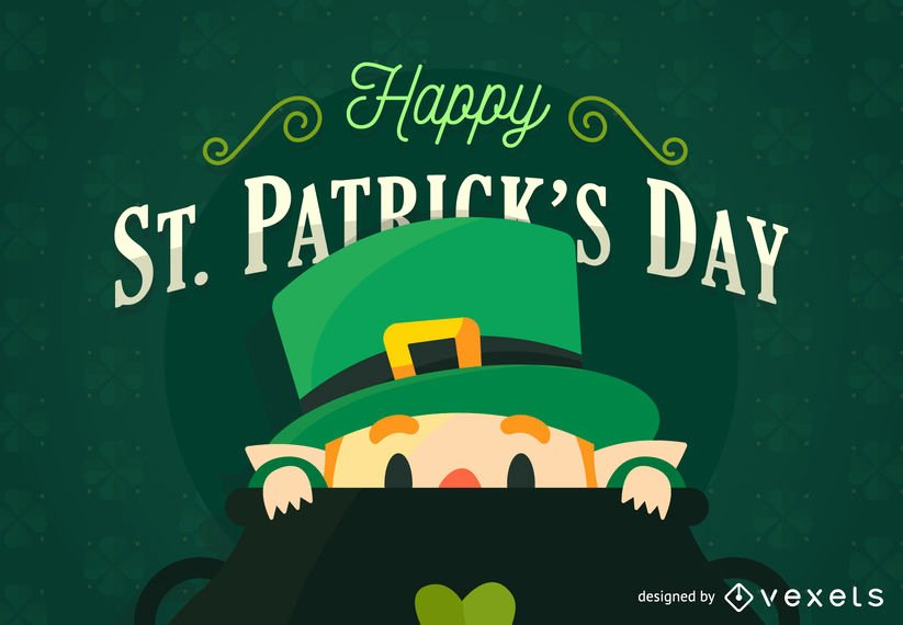St Patrick Day Posters Luxury Flat St Patrick S Day Poster Vector