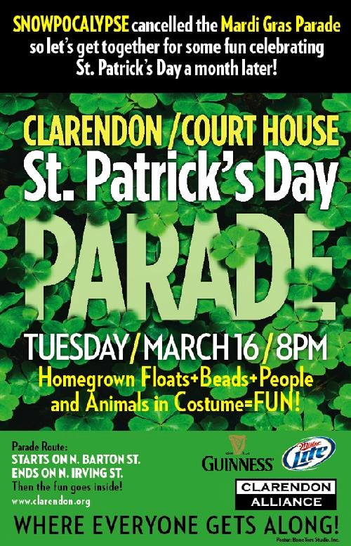 St Patrick Day Posters New Clarendon St Patrick S Day Parade Poster