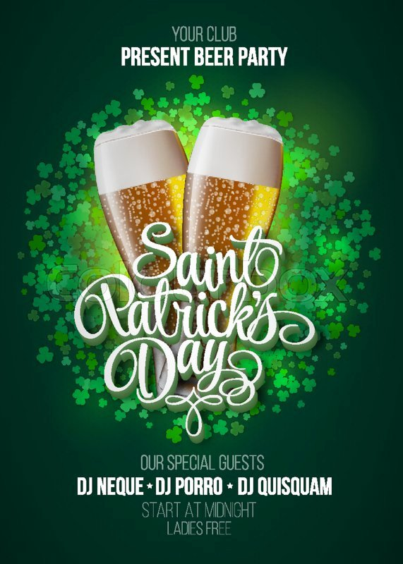 St Patrick Day Posters New St Patrick S Day Poster Beer Party