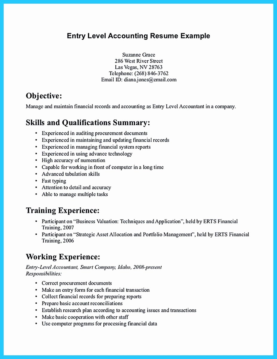 Staff Accountant Resume Summary Beautiful Sample for Writing An Accounting Resume