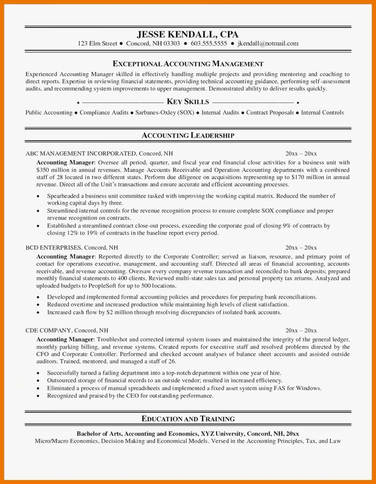Staff Accountant Resume Summary Elegant 12 13 Accounting Resume Samples Canada