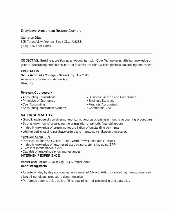 Staff Accountant Resume Summary Elegant Staff Accountant Resume – Emelcotest