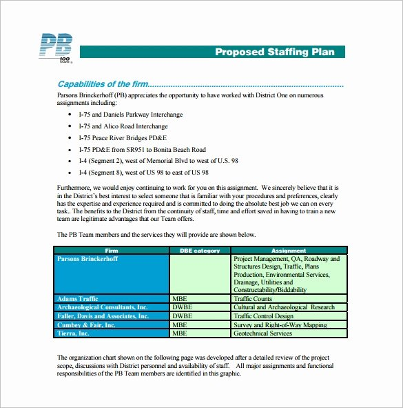 Staffing Plan Template Word Awesome 13 Staffing Plan Templates Free Sample Example format