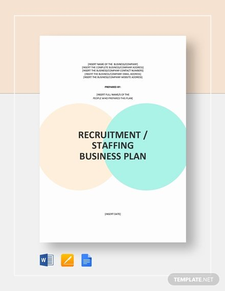 Staffing Plan Template Word Awesome Recruitment Staffing Agency Business Plan Template Word