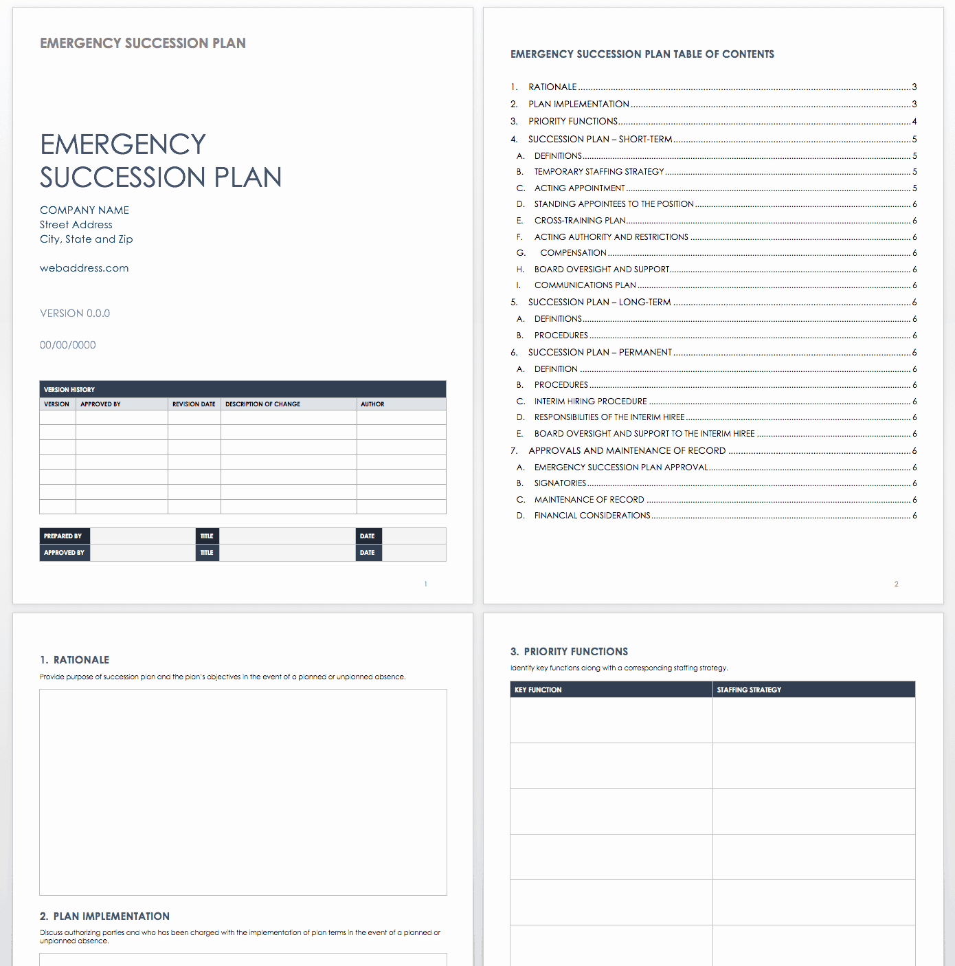 Staffing Plan Template Word Elegant Free Succession Planning Templates