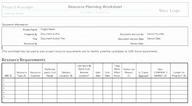 Staffing Plan Template Word Elegant Staffing Strategies for Projects Must Tackle Many