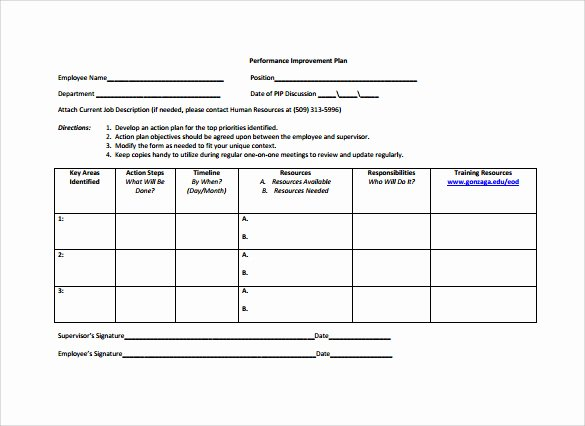 Staffing Plan Template Word Inspirational Employee Action Plan Template 8 Download Documents In Pdf