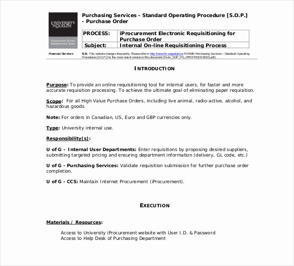 Standard Operating Procedures Examples Free Best Of 13 Standard Operating Procedure Templates Pdf Doc