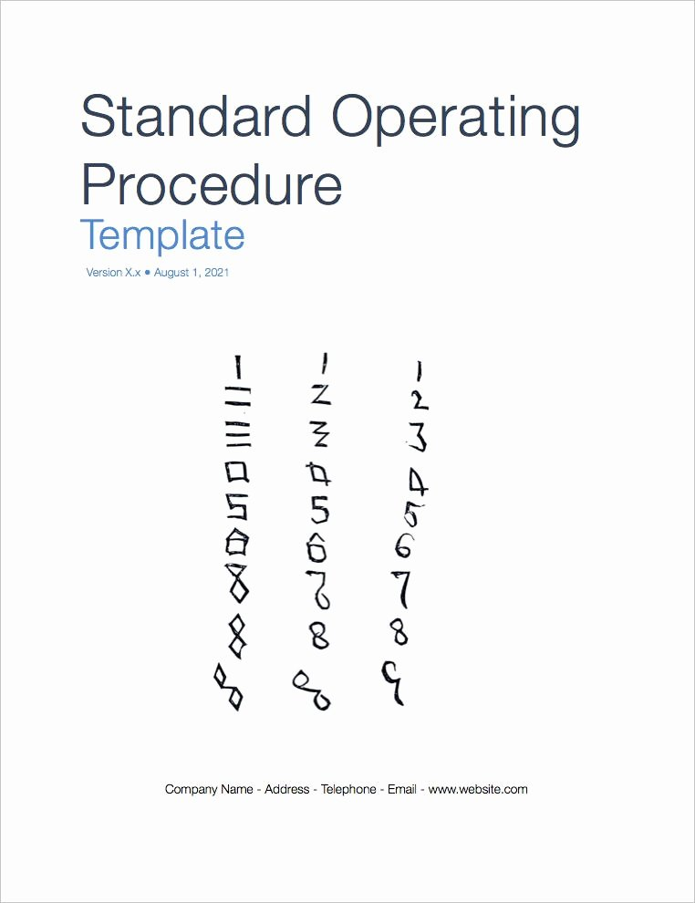 Standard Operating Procedures Examples Free Best Of Standard Operating Procedure sop Templates Apple Iwork