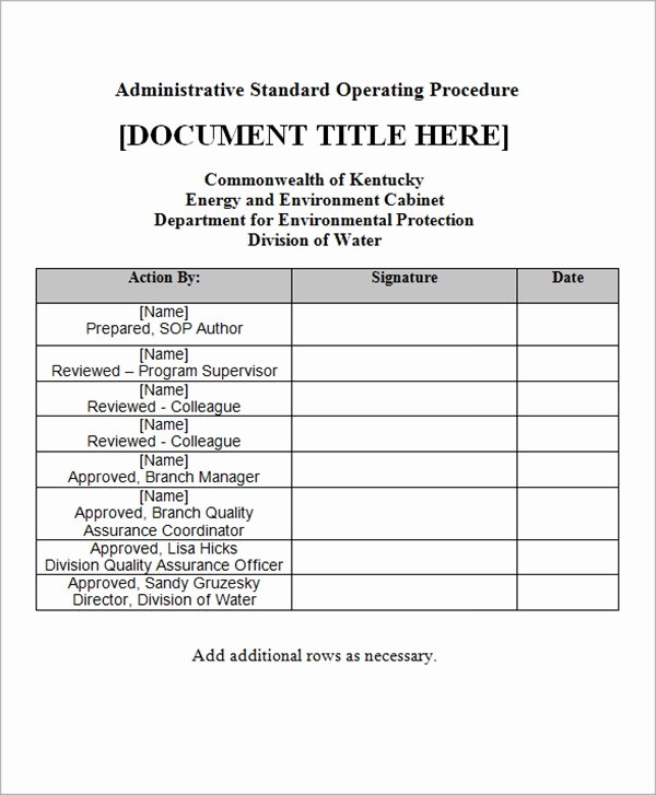 Standard Operating Procedures Examples Free Inspirational Free 20 Sample sop Templates In Pdf Google Docs