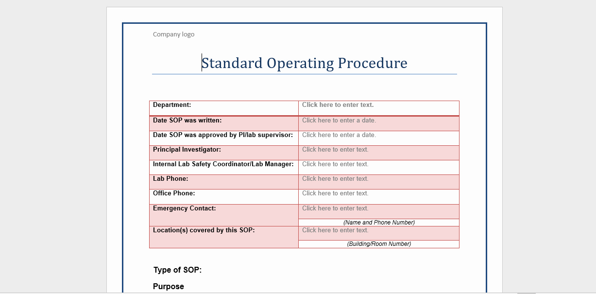Standard Operating Procedures Examples Free New 20 Free sop Templates to Make Recording Processes Quick