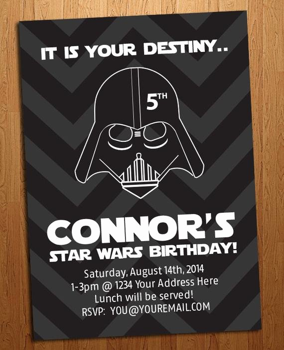 Star Wars Birthday Invitation Wording Awesome Star Wars Birthday Party Invitation