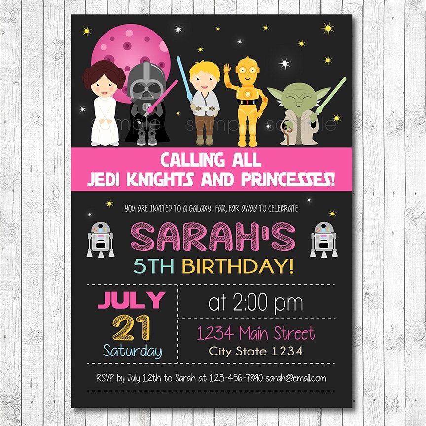 Star Wars Birthday Invitation Wording Beautiful Star Wars Birthday Invitation Star Wars Invite by