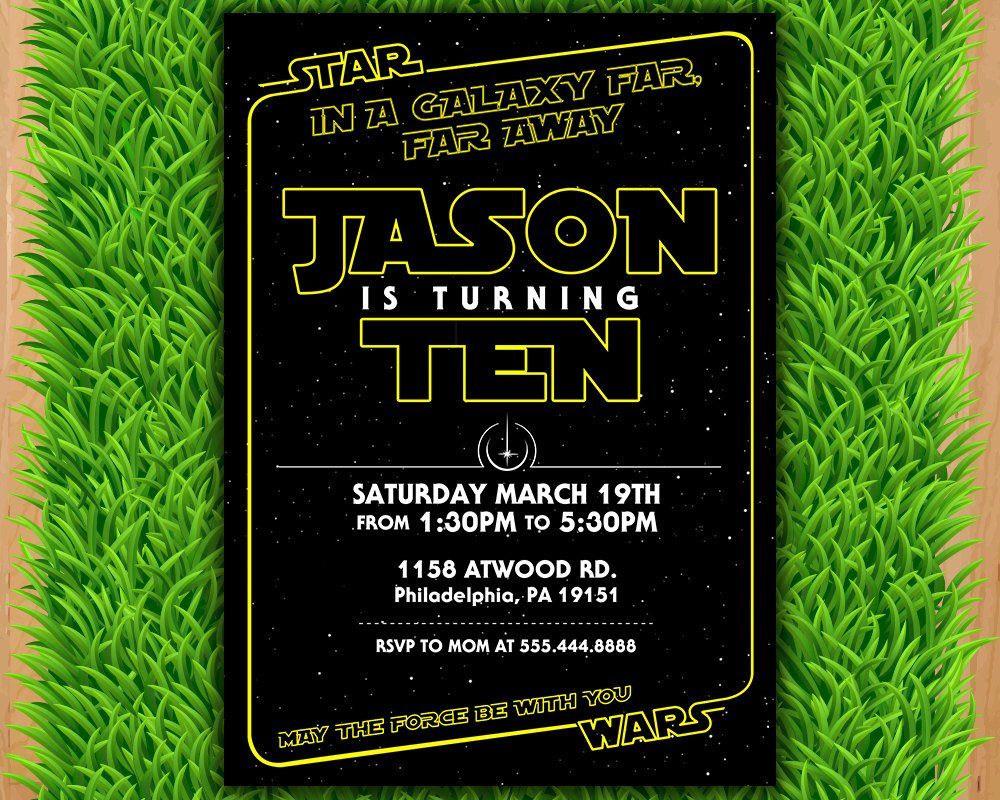 Star Wars Birthday Invitation Wording Best Of Star Wars Invitation Star Wars Party Invitation Star Wars