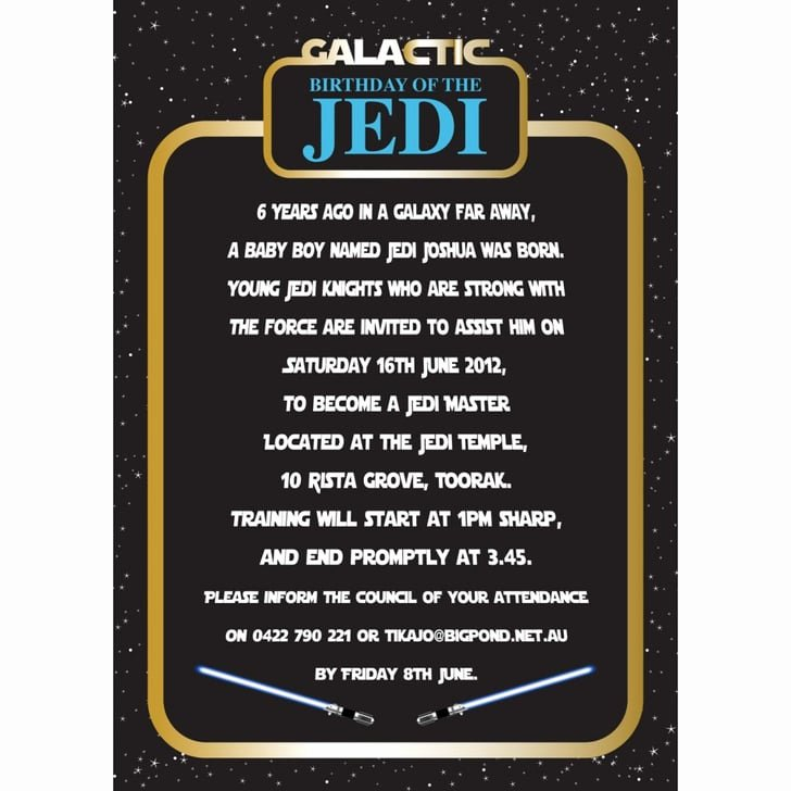 Star Wars Birthday Invitation Wording Elegant Invitation Star Wars Birthday Party