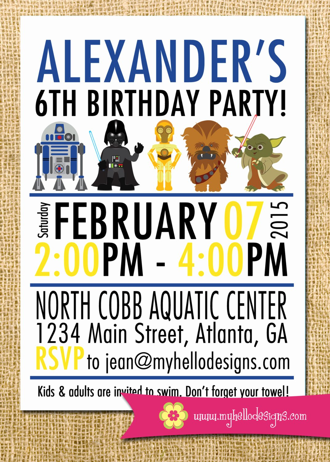 Star Wars Birthday Invitation Wording Lovely Printable Star Wars Inspired Invitation Jedi Invite Diy Boy