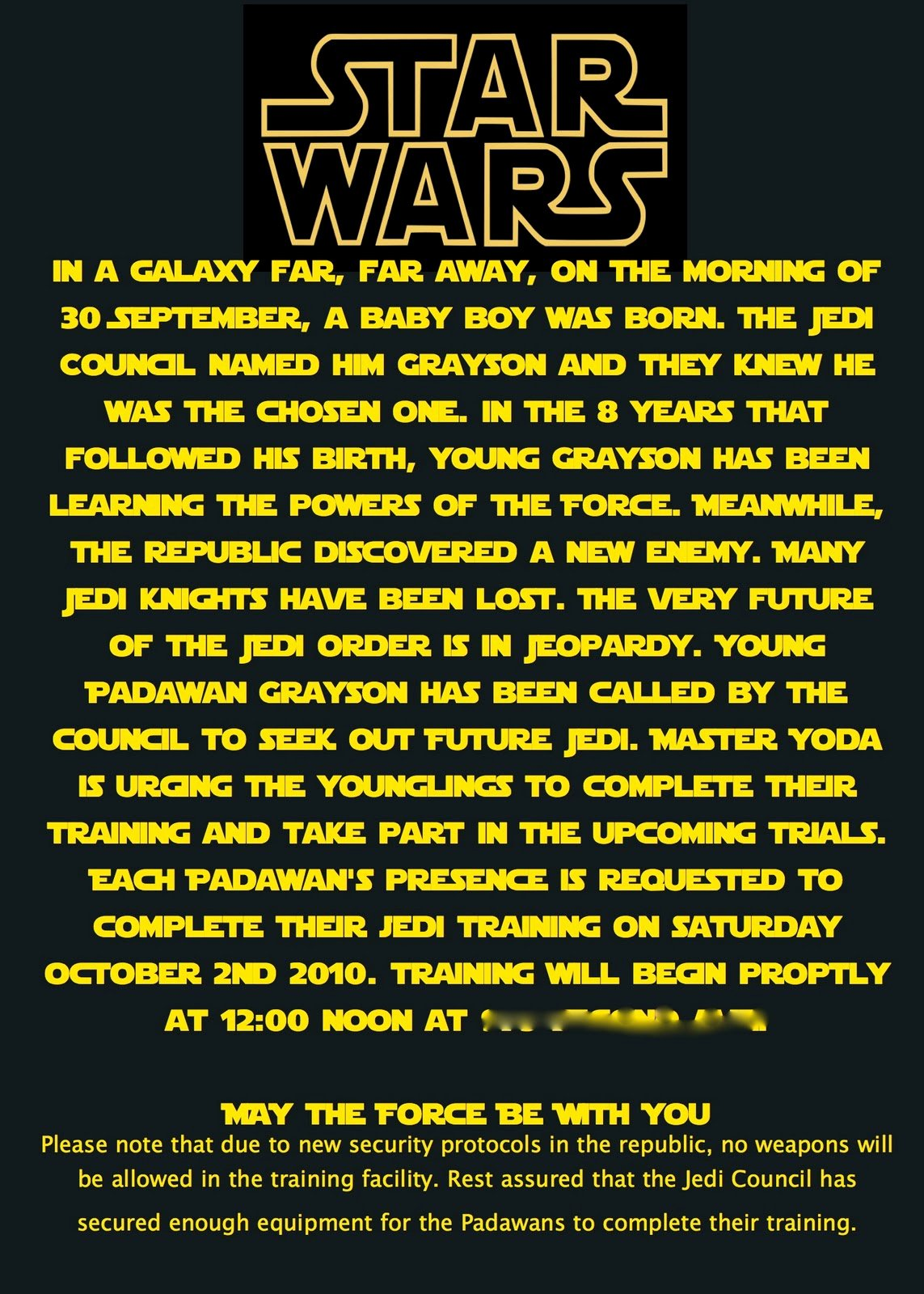 Star Wars Birthday Invitation Wording Luxury at Second Street Star Wars Party What I Did