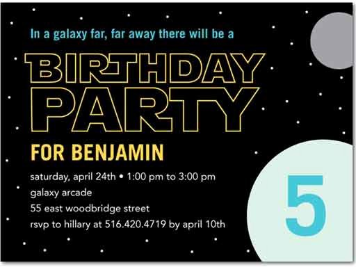 Star Wars Birthday Invitation Wording Unique the Best Star Wars Birthday Invitations by A Pro Party