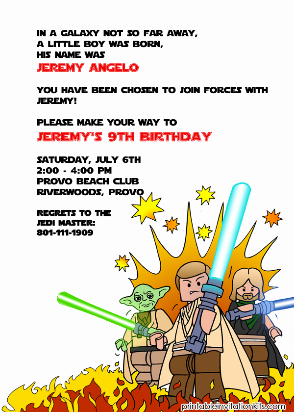 Star Wars Invitations Free Best Of Lego Starwars Birthday Invitation ← Wedding Invitation