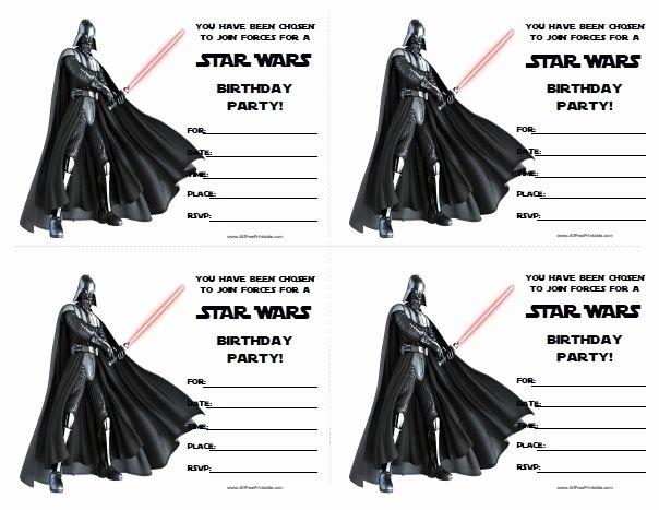 Star Wars Invitations Free Best Of Star Wars Birthday Invitations Printable Free …