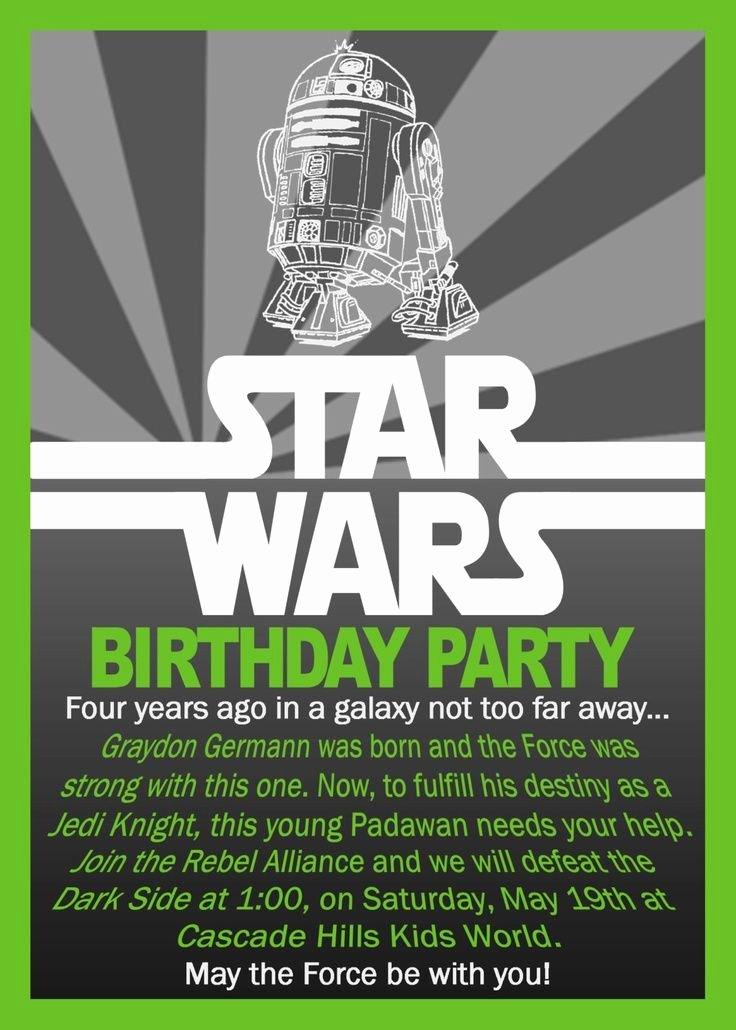Star Wars Invitations Free Inspirational Free Printable Star Wars Birthday Invitations
