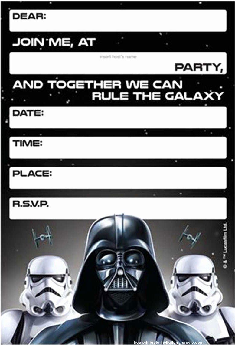 Star Wars Invitations Free Inspirational Free Printable Star Wars Birthday Invitations – Template