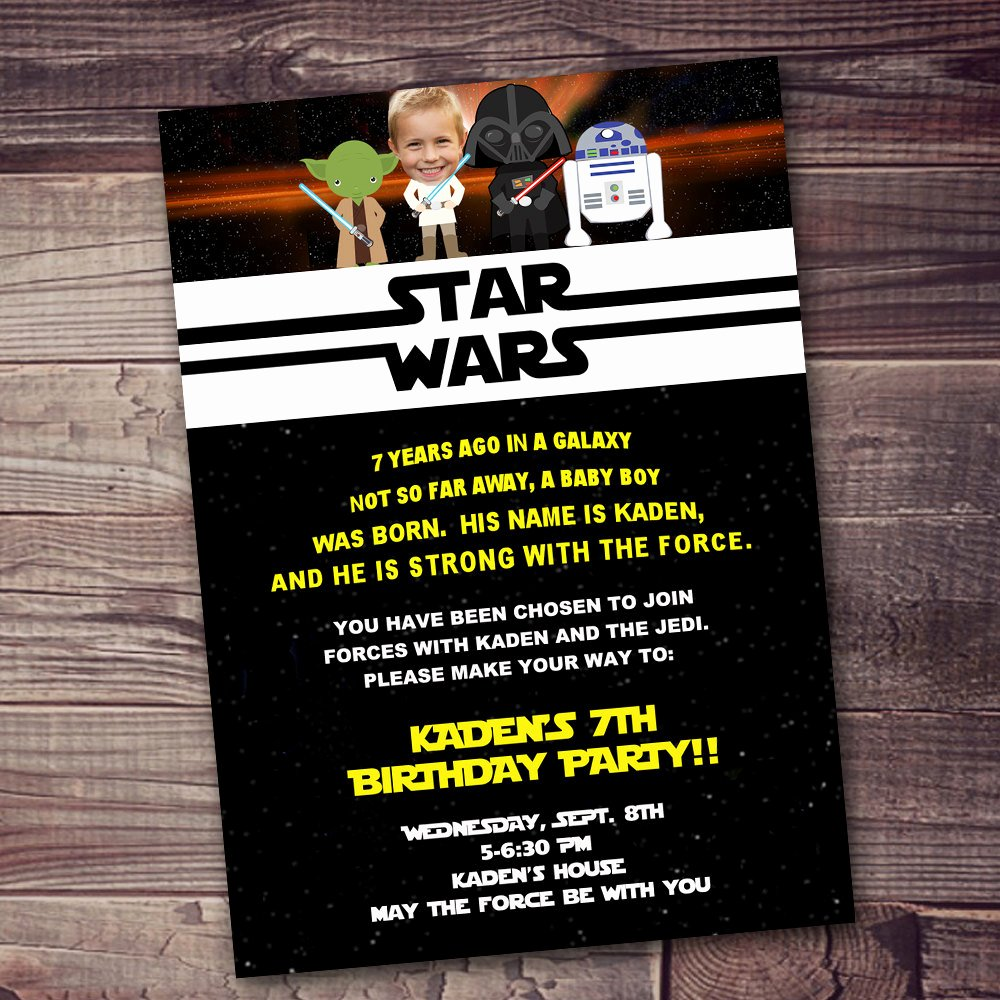 Star Wars Invitations Free Lovely Fast Ship Star Wars Invitation Free Customization
