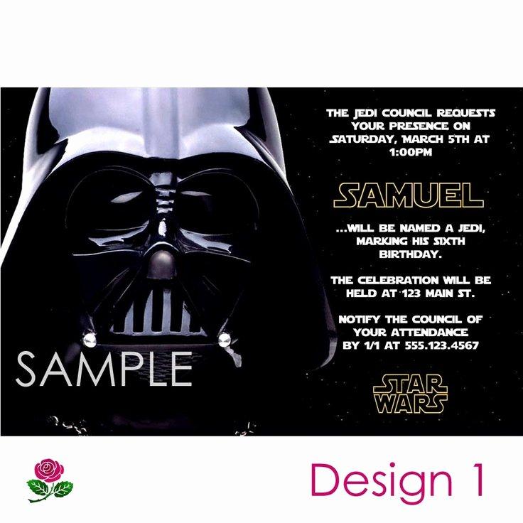 Star Wars Invitations Free Luxury Star Wars Invitation Printable Birthday Party You Print