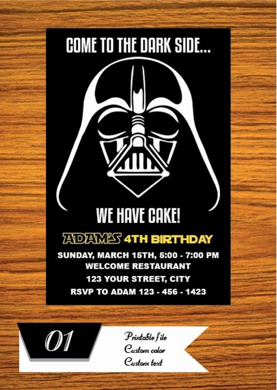 Star Wars Invitations Free Luxury Star Wars Invitation Star Wars Party Invitation Star Wars