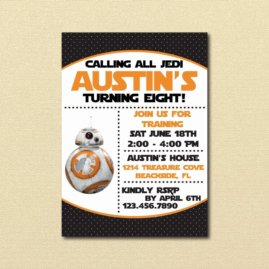 Star Wars Invitations Printable Beautiful 40 Star Wars the force Awakens Birthday Party Ideas