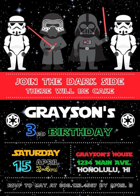 Star Wars Invitations Printable Fresh Free Star Wars Birthday Invitations – Free Printable