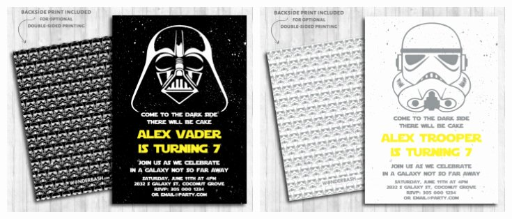 Star Wars Invitations Printable Fresh Ultimate Star Wars Party Guide