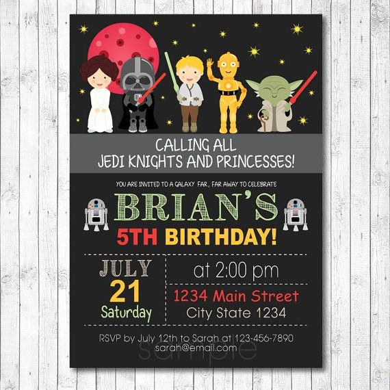 Star Wars Invitations Printable Lovely Free Star Wars Birthday Invitations – Free Printable