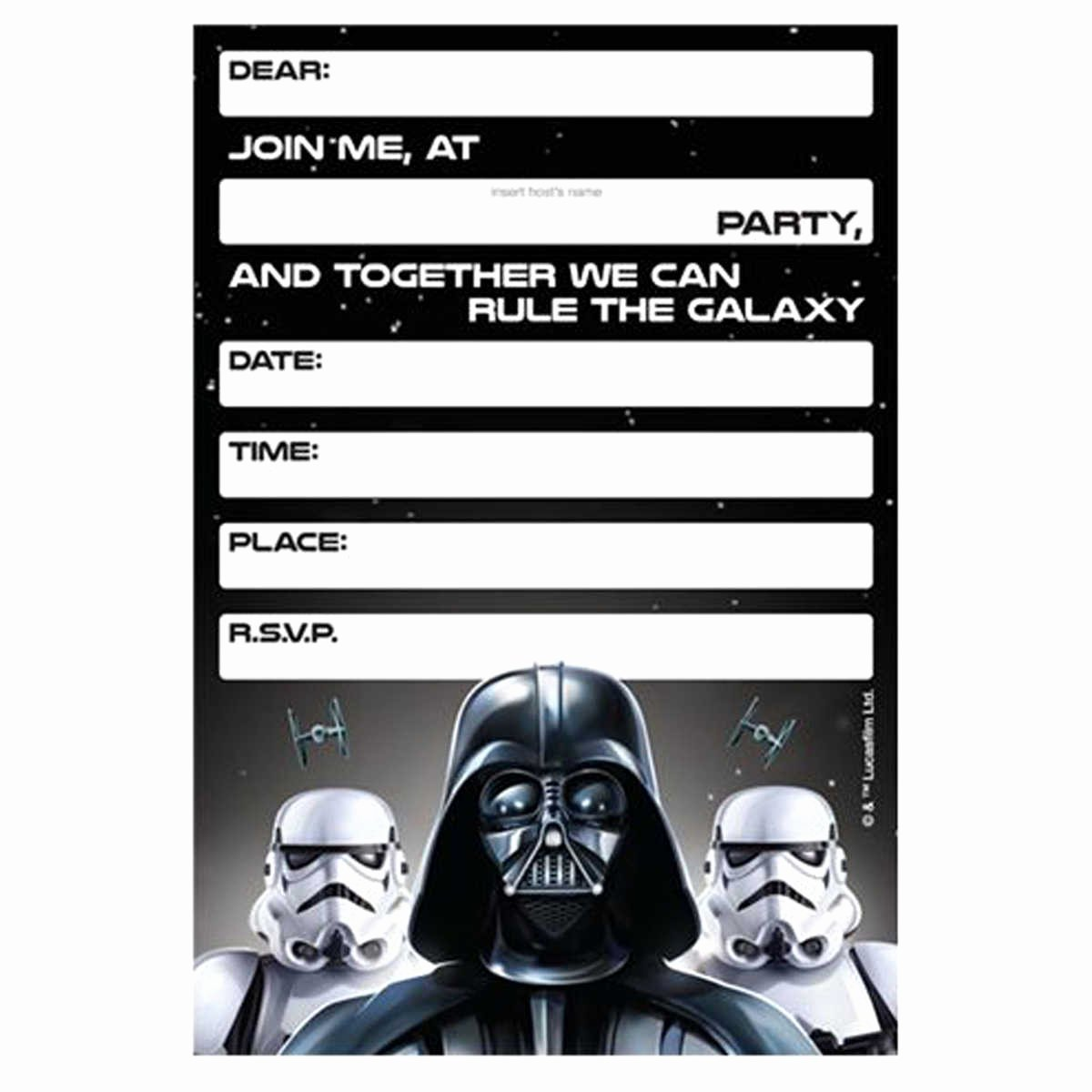 Star Wars Invitations Printable Lovely Lego Star Wars Birthday Invitations Template – Bagvania