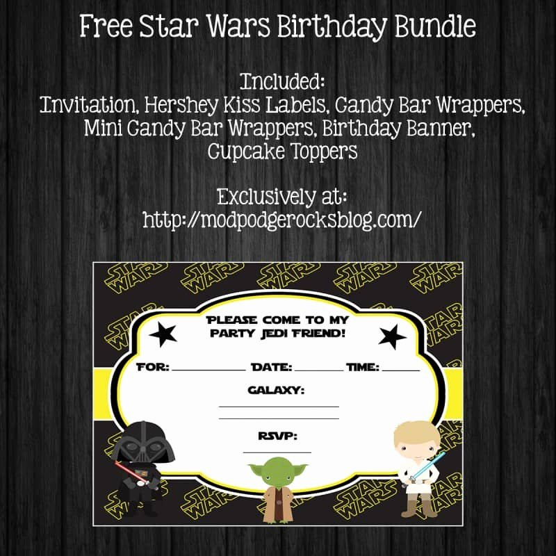 Star Wars Invitations Printable Luxury Star Wars Birthday Party Free Printable Pack Mod Podge