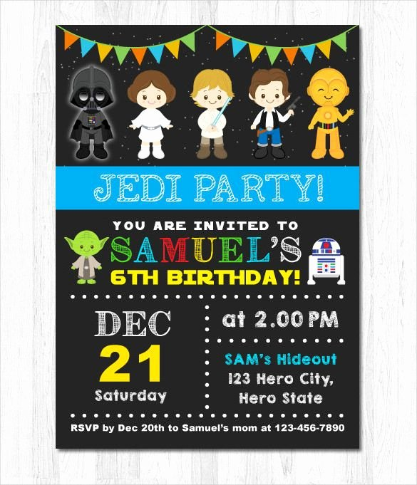 Star Wars Invitations Printable New Get Free Star Wars Birthday Invitations