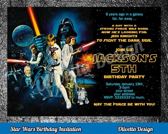 Star Wars Invitations Printable New Star Wars Birthday Invitation Star Wars Invitation Birthday