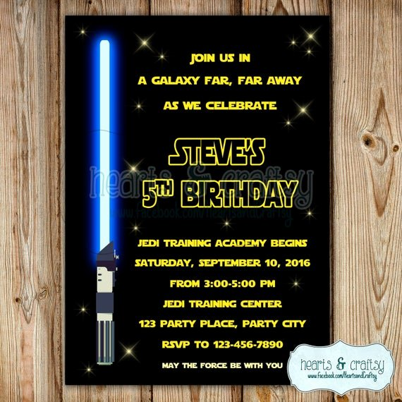 Star Wars Invitations Wording Awesome Star Wars Invitation Star Wars Birthday Invitation