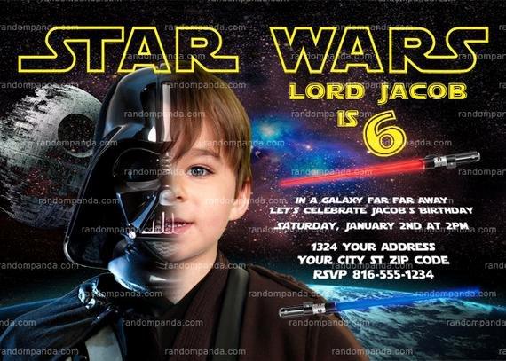 Star Wars Invitations Wording Beautiful Personalize Star Wars Invitation Darth Vader by therandompanda