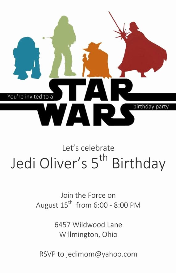 Star Wars Invitations Wording Beautiful the Perfect Invite for Your Jedi Master This Listing is